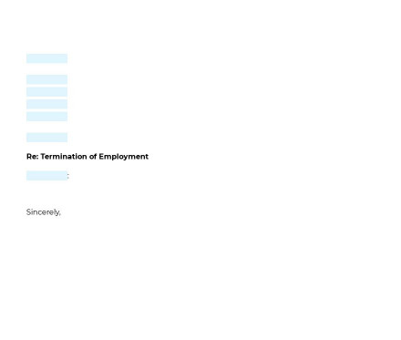 Employee Termination Letter preview