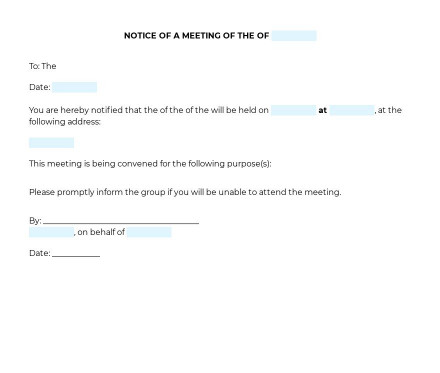 Meeting Notice preview