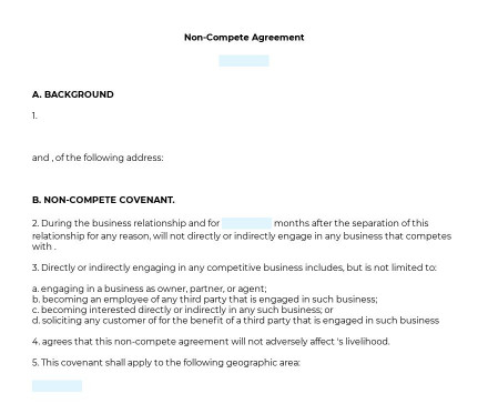 Non-Compete Agreement preview