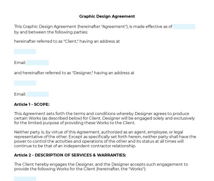 Graphic Design Agreement preview