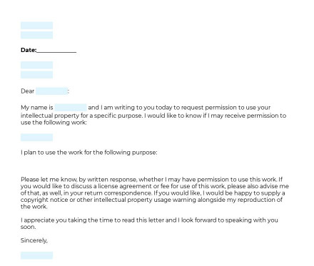 Intellectual Property Permission Letter preview