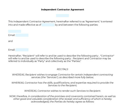 Independent Contractor Agreement preview