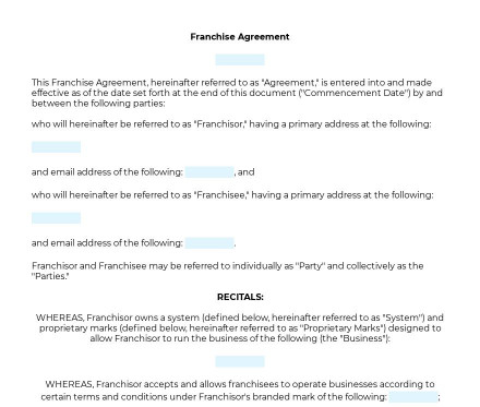 Franchise Agreement preview