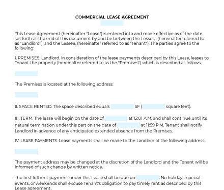 Commercial Lease Agreement preview