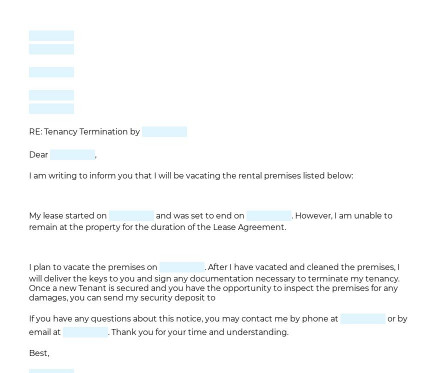 Termination of Tenancy Letter preview