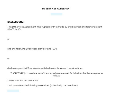 DJ Agreement preview