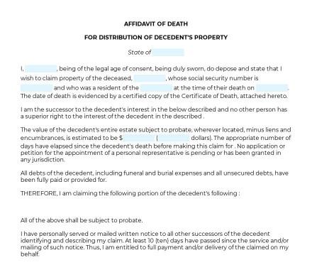 Affidavit of Death preview