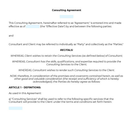 Consulting Agreement preview