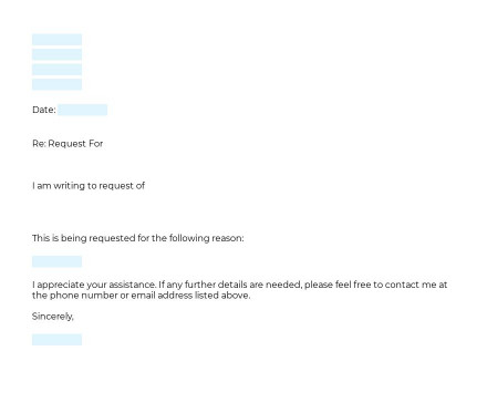 Letter to Request Documents preview